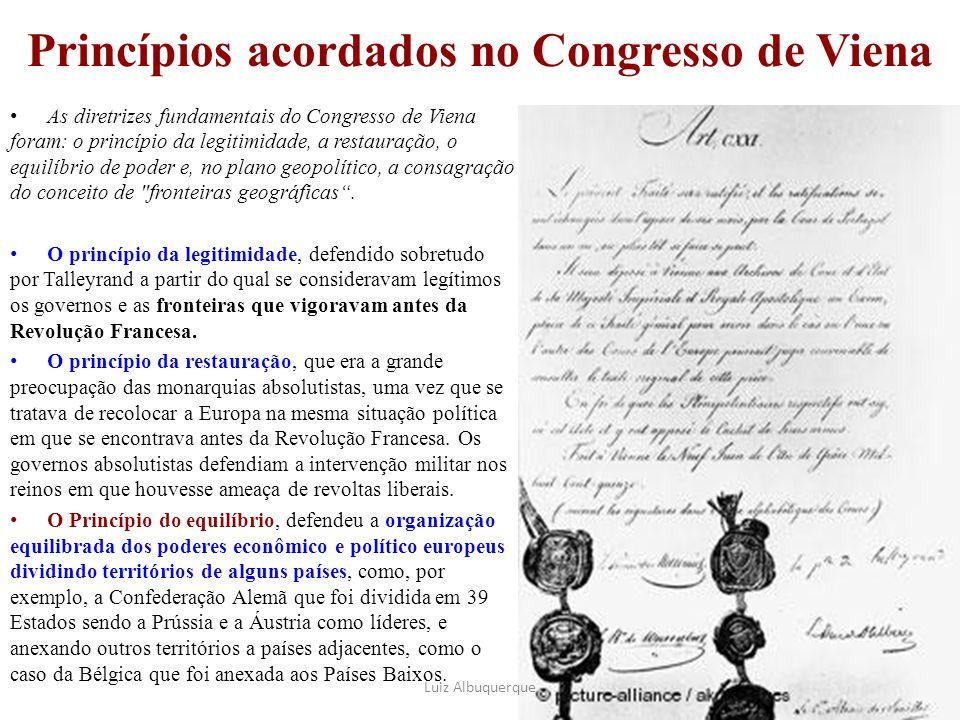 Princípios acordados no Congresso de Viena
