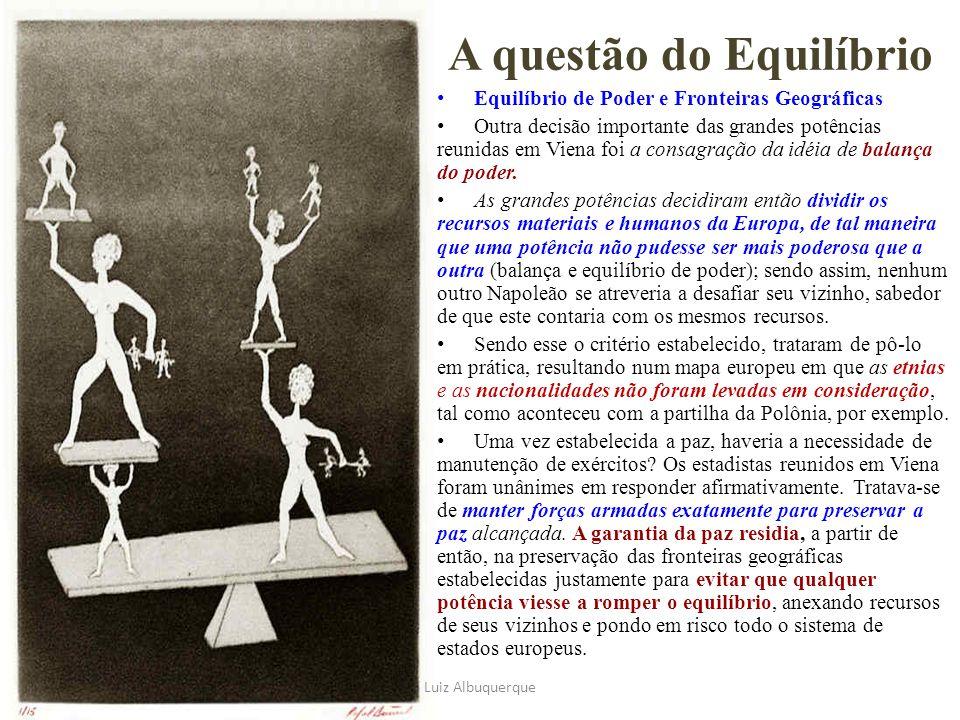 A questão do Equilíbrio