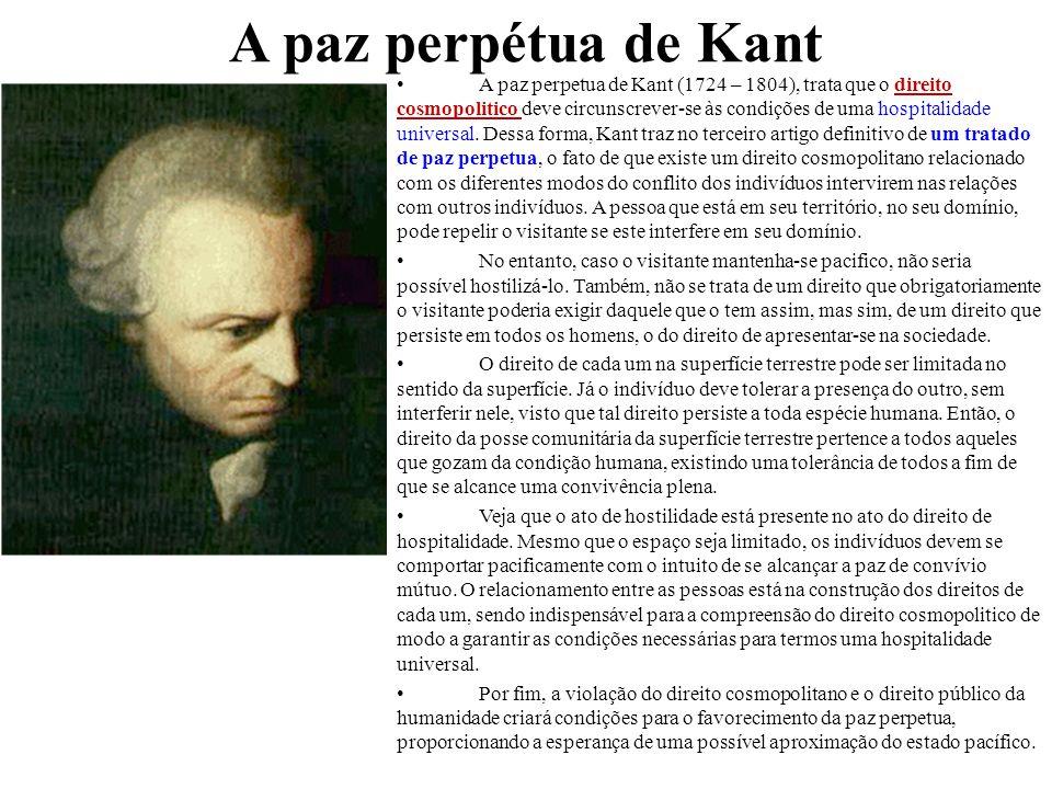 A paz perpétua de Kant