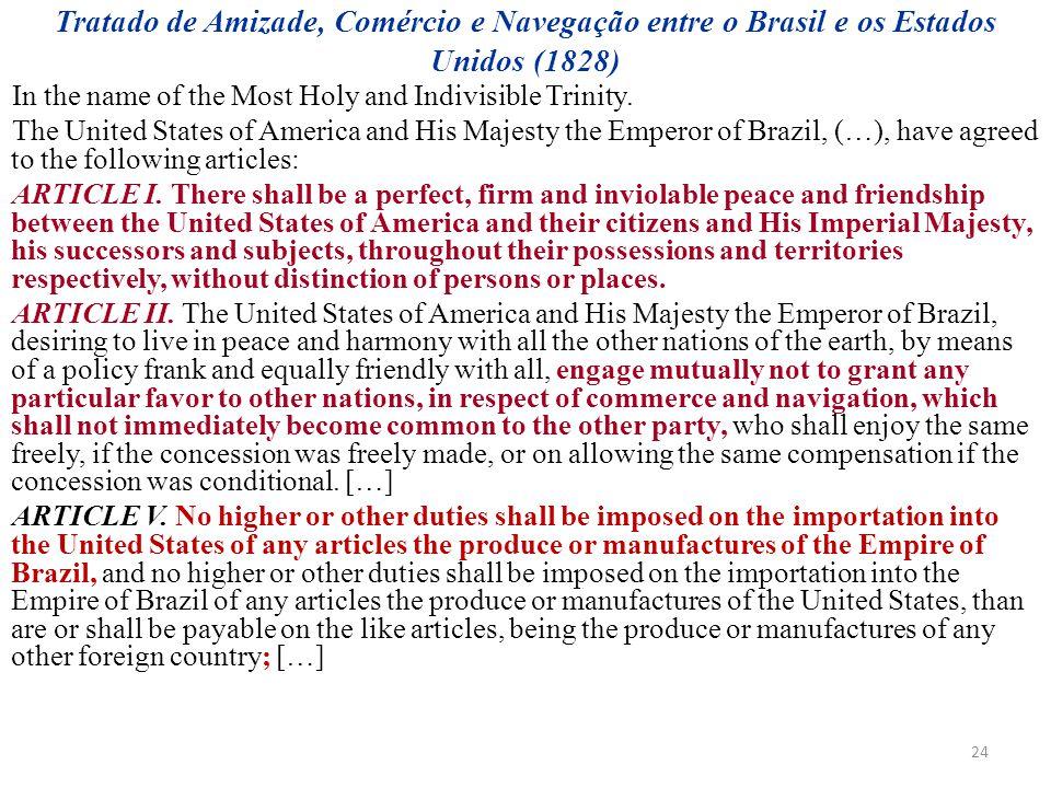 Tratado de Amizade, Comércio e Navegação entre o Brasil e os Estados Unidos (1828)