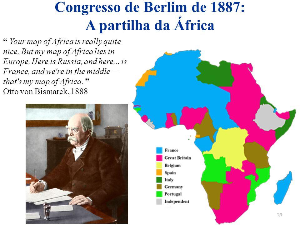 Congresso de Berlim de 1887: A partilha da África