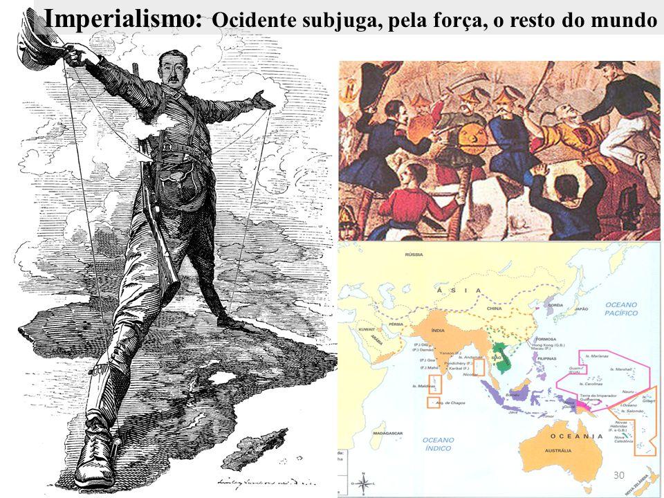 Imperialismo: Ocidente subjuga, pela força, o resto do mundo