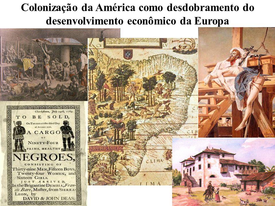 Colonização da América como desdobramento do desenvolvimento econômico da Europa