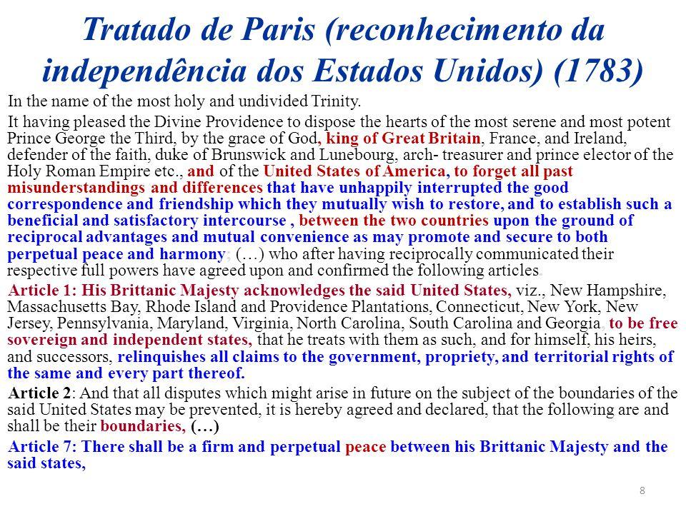 Tratado de Paris (reconhecimento da independência dos Estados Unidos) (1783)