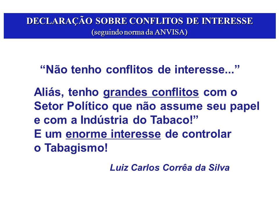 DECLARAÇÃO SOBRE CONFLITOS DE INTERESSE