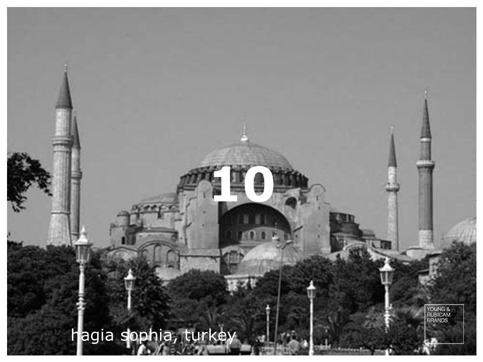10 hagia sophia, turkey