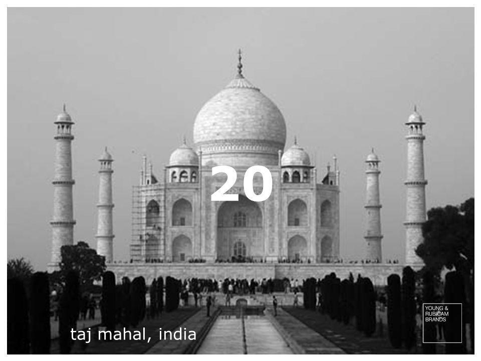 20 taj mahal, india