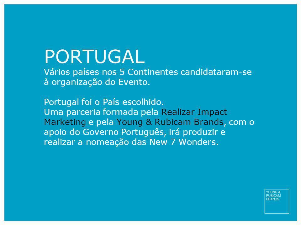 PORTUGAL Vários países nos 5 Continentes candidataram-se à organização do Evento. Portugal foi o País escolhido.