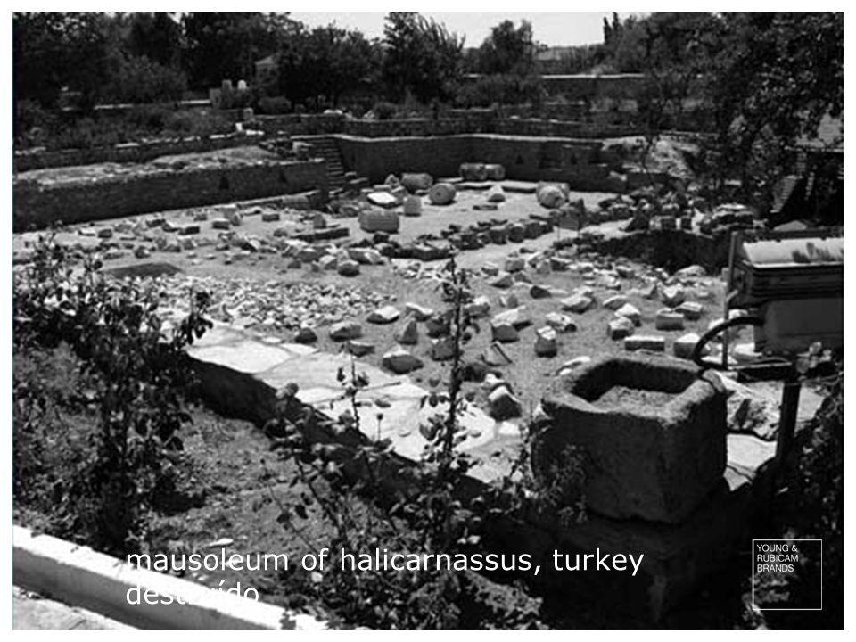 mausoleum of halicarnassus, turkey destruído