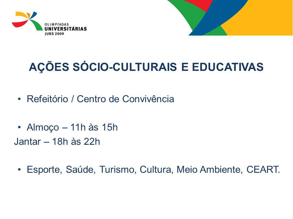 AÇÕES SÓCIO-CULTURAIS E EDUCATIVAS