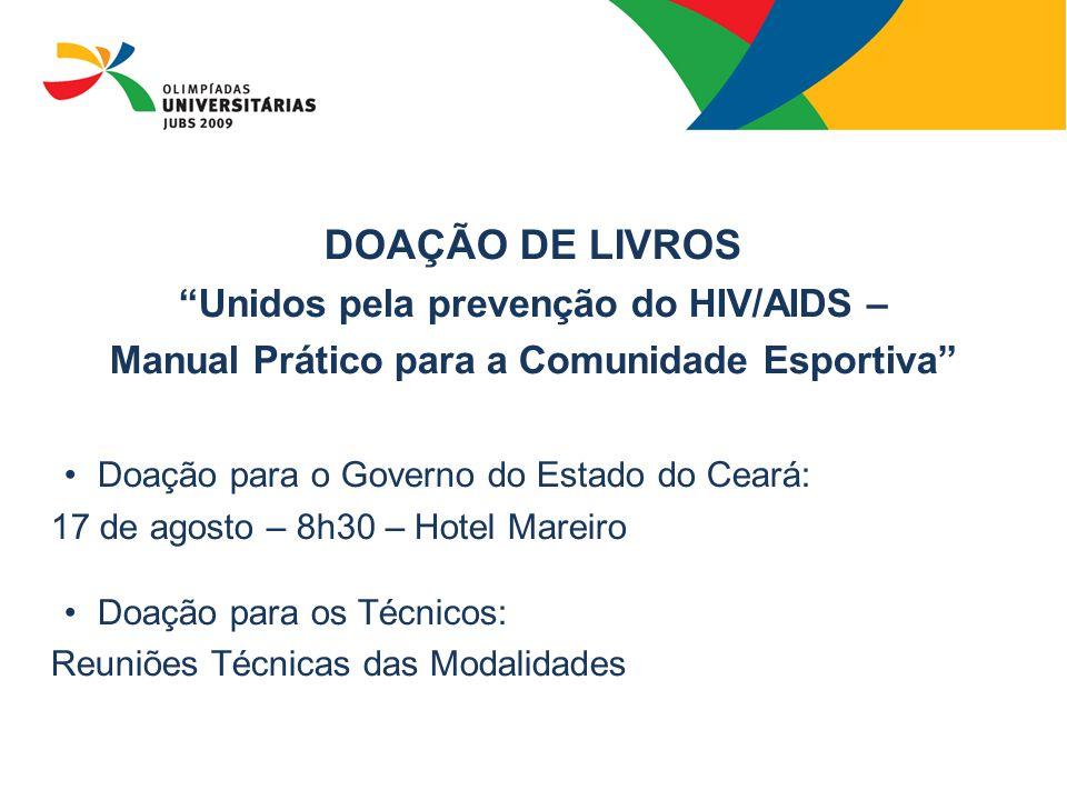 DOAÇÃO DE LIVROS Unidos pela prevenção do HIV/AIDS –