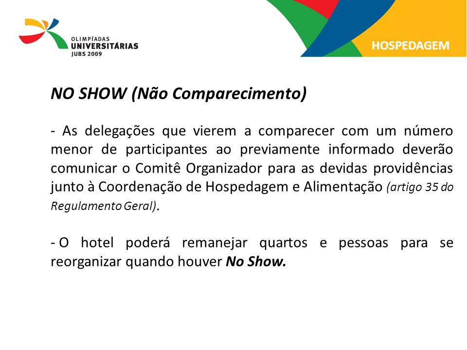 NO SHOW (Não Comparecimento)