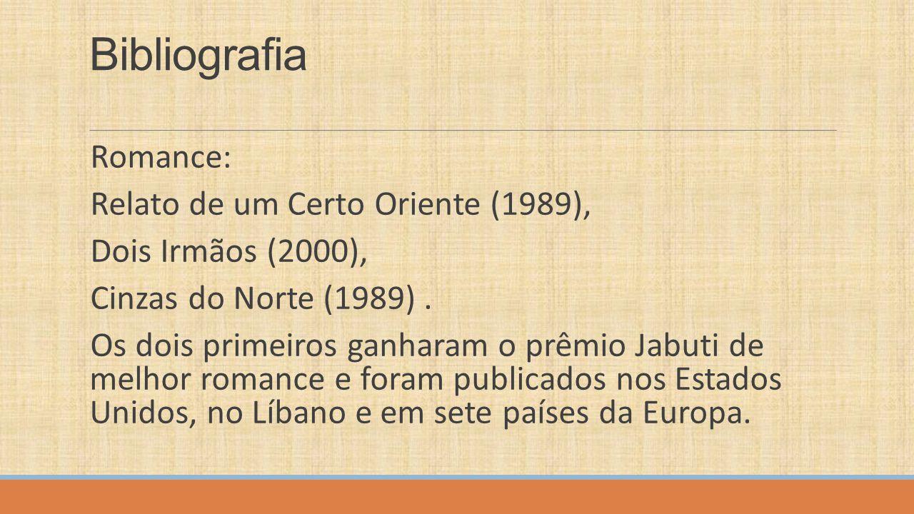 Bibliografia Romance: Relato de um Certo Oriente (1989),