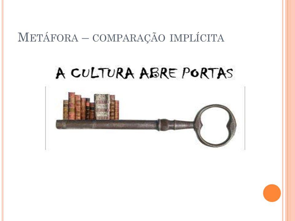 Metáfora – comparação implícita