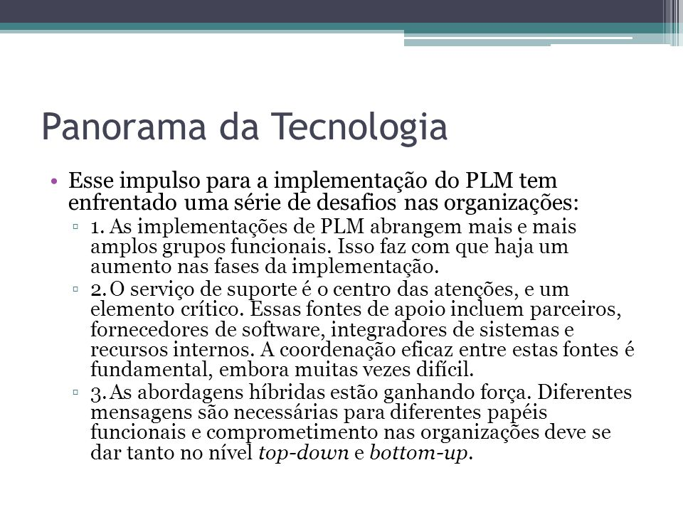 Panorama da Tecnologia