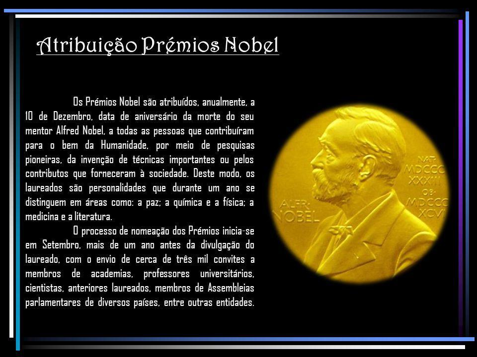 Atribuição Prémios Nobel
