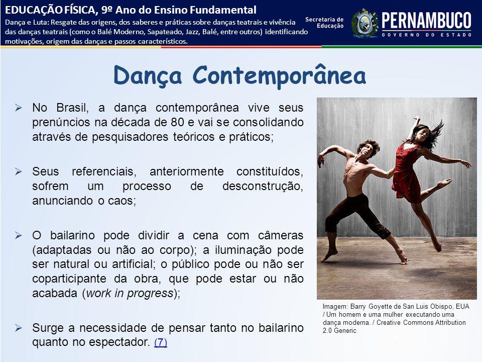 Dança Contemporânea EDUCAÇÃO FÍSICA, 9º Ano do Ensino Fundamental