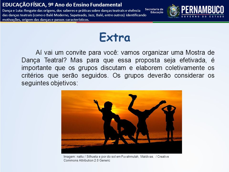 EDUCAÇÃO FÍSICA, 9º Ano do Ensino Fundamental