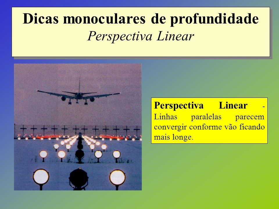 Dicas monoculares de profundidade Perspectiva Linear