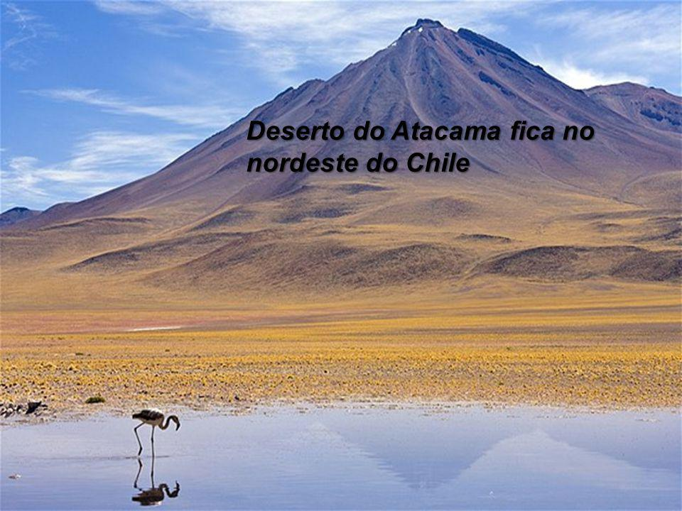 Deserto do Atacama fica no nordeste do Chile