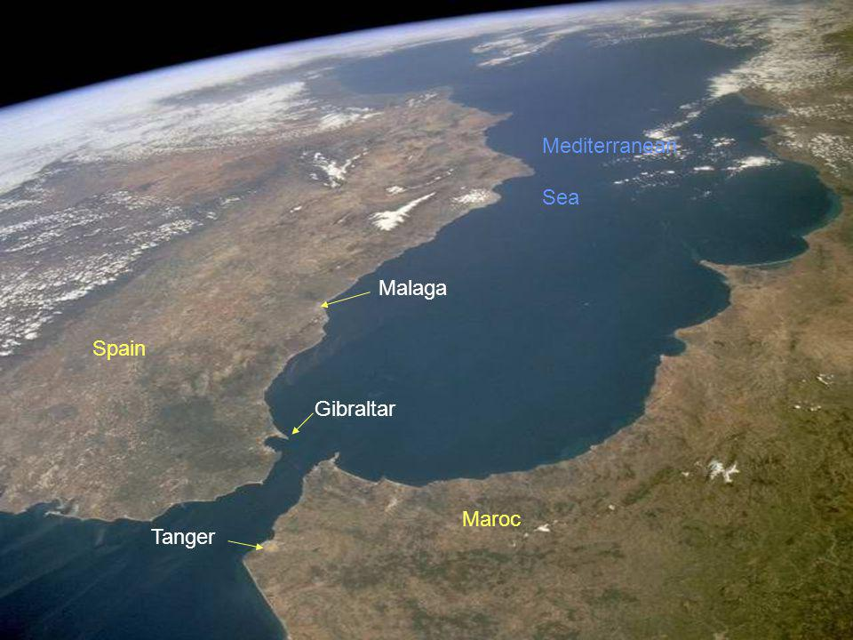 Mediterranean Sea Malaga Spain Gibraltar Maroc Tanger
