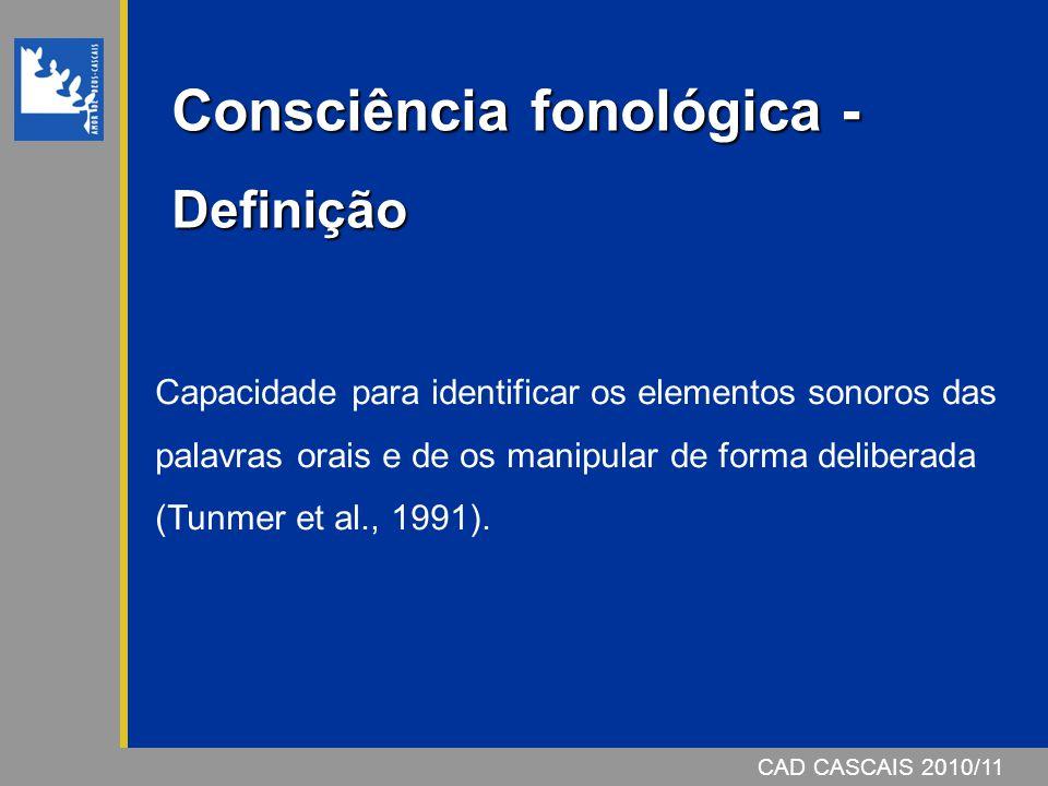 Consciência fonológica - Definição