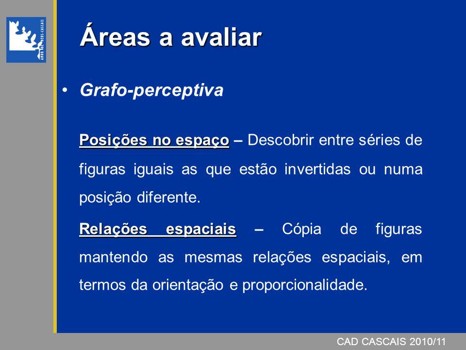 Áreas a avaliar Grafo-perceptiva