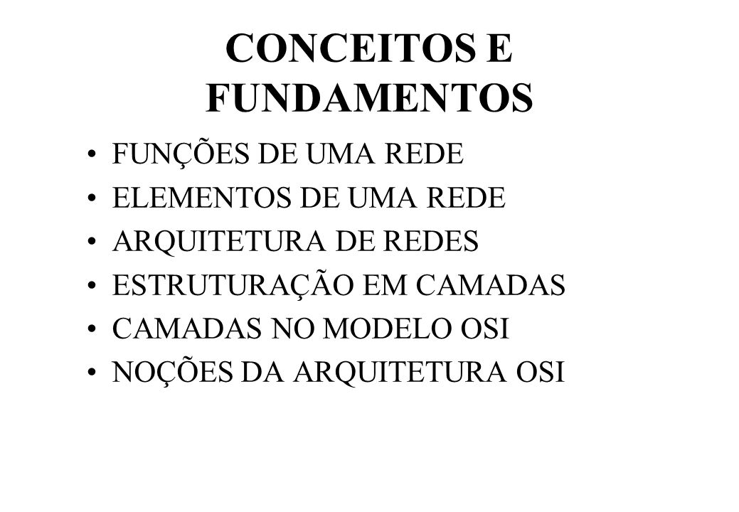 CONCEITOS E FUNDAMENTOS