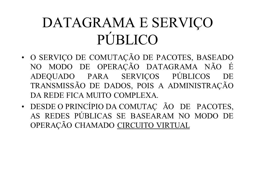 DATAGRAMA E SERVIÇO PÚBLICO