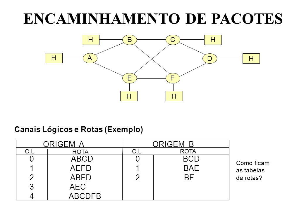 ENCAMINHAMENTO DE PACOTES