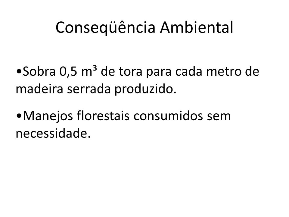 Conseqüência Ambiental