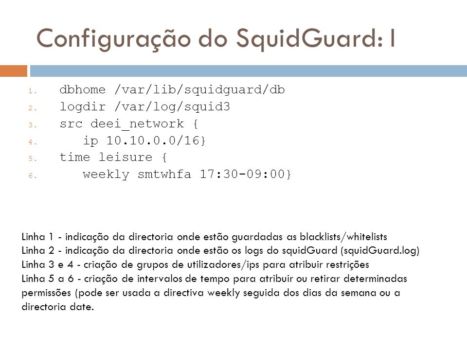 Configuração do SquidGuard: I