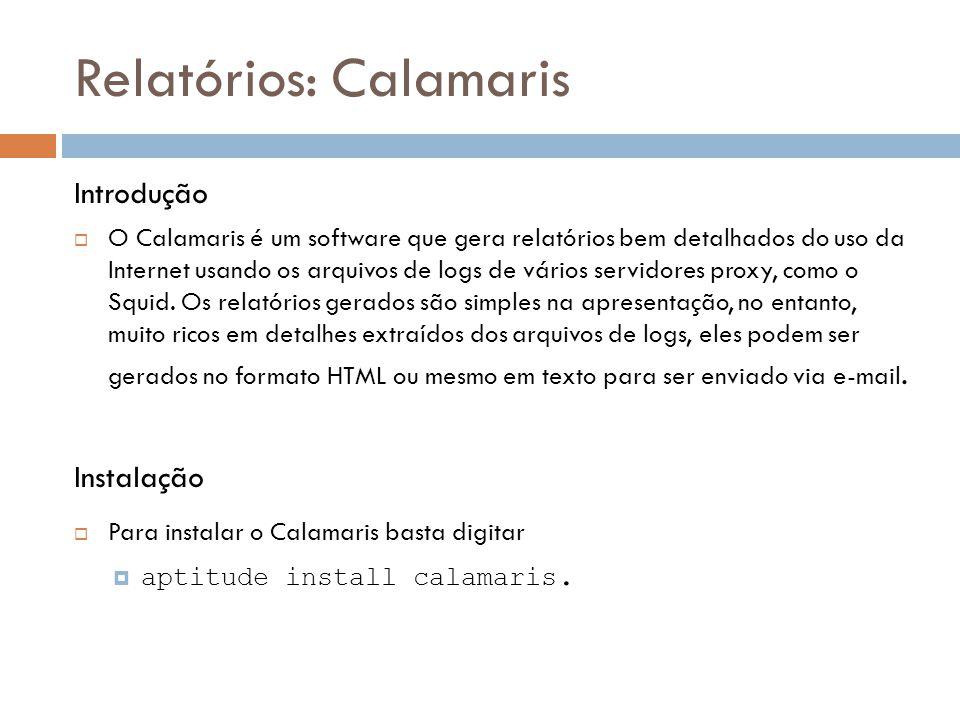 Relatórios: Calamaris