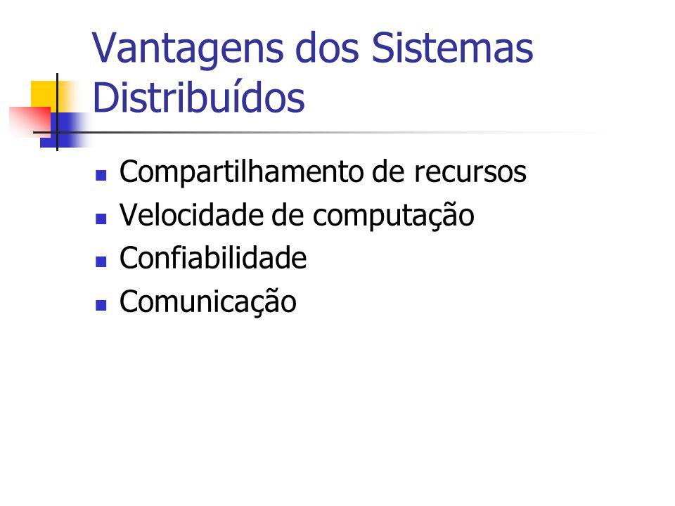 Vantagens dos Sistemas Distribuídos