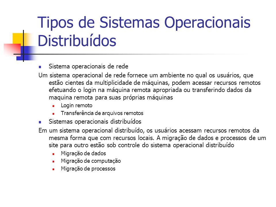 Tipos de Sistemas Operacionais Distribuídos