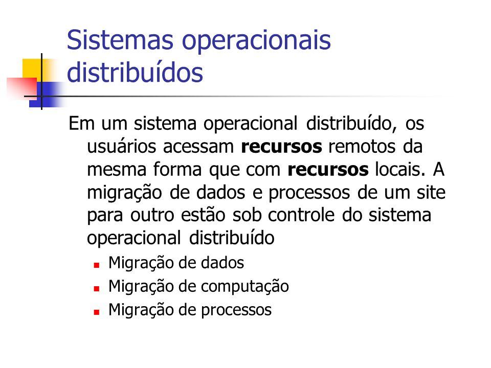 Sistemas operacionais distribuídos