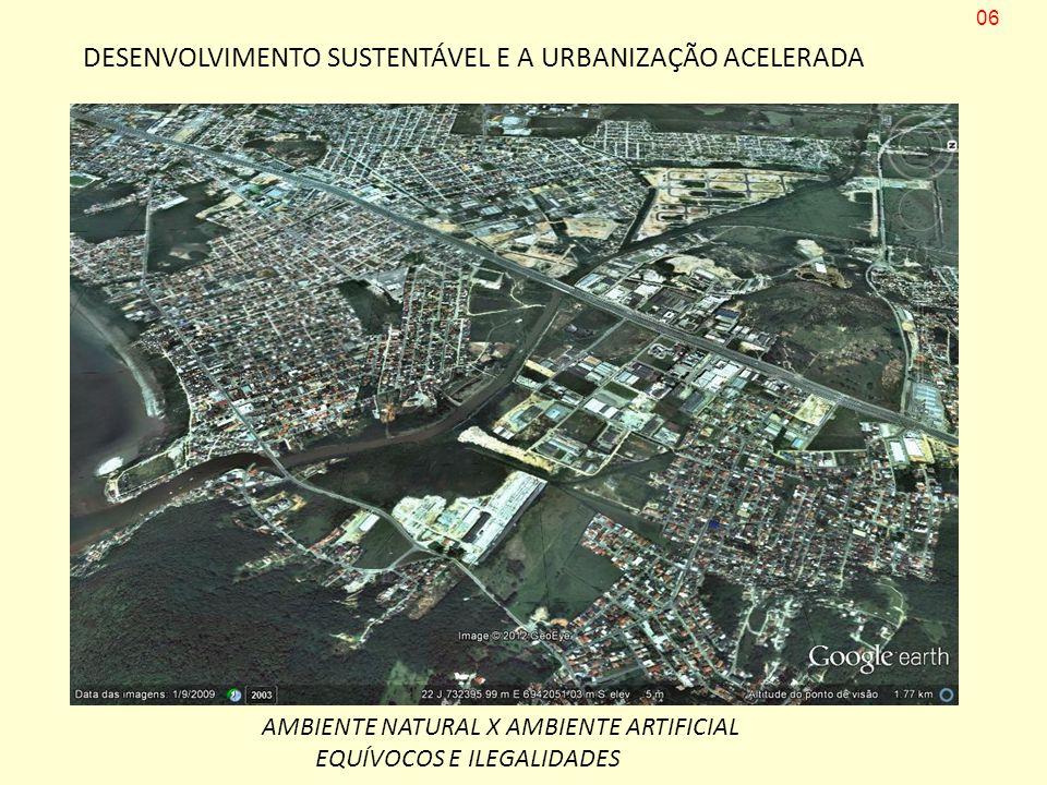 DESENVOLVIMENTO SUSTENTÁVEL E A URBANIZAÇÃO ACELERADA