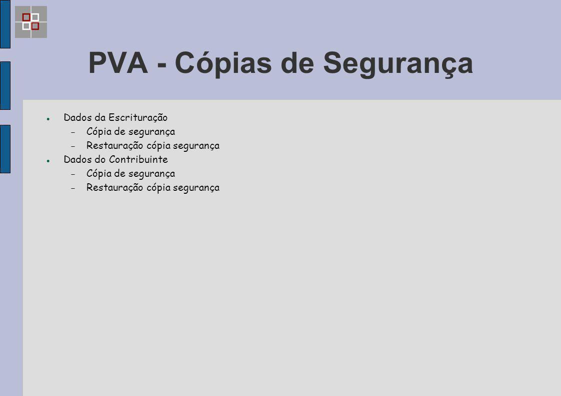 PVA - Cópias de Segurança