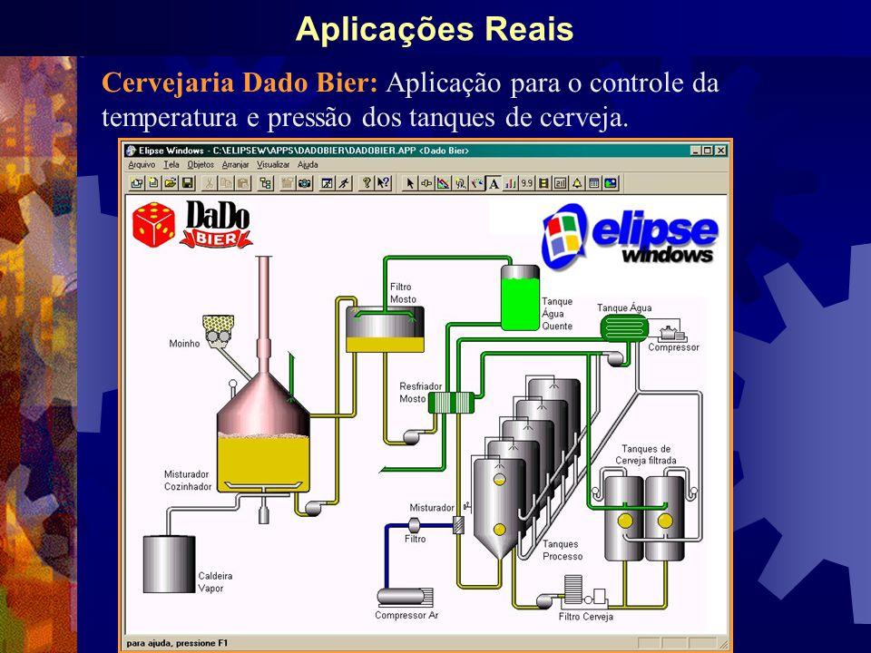 Aplicações Reais Cervejaria Dado Bier: Aplicação para o controle da temperatura e pressão dos tanques de cerveja.