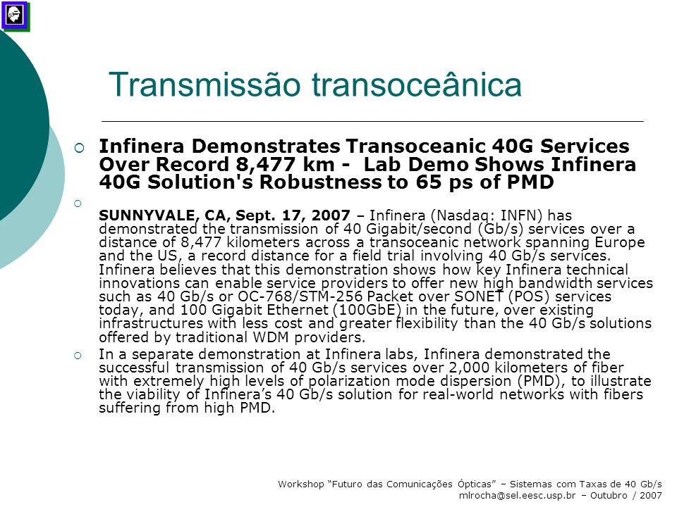 Transmissão transoceânica