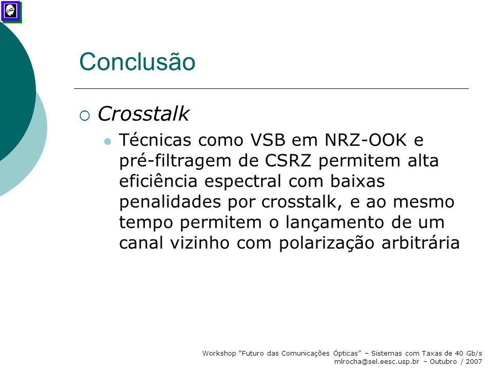 Conclusão Crosstalk.