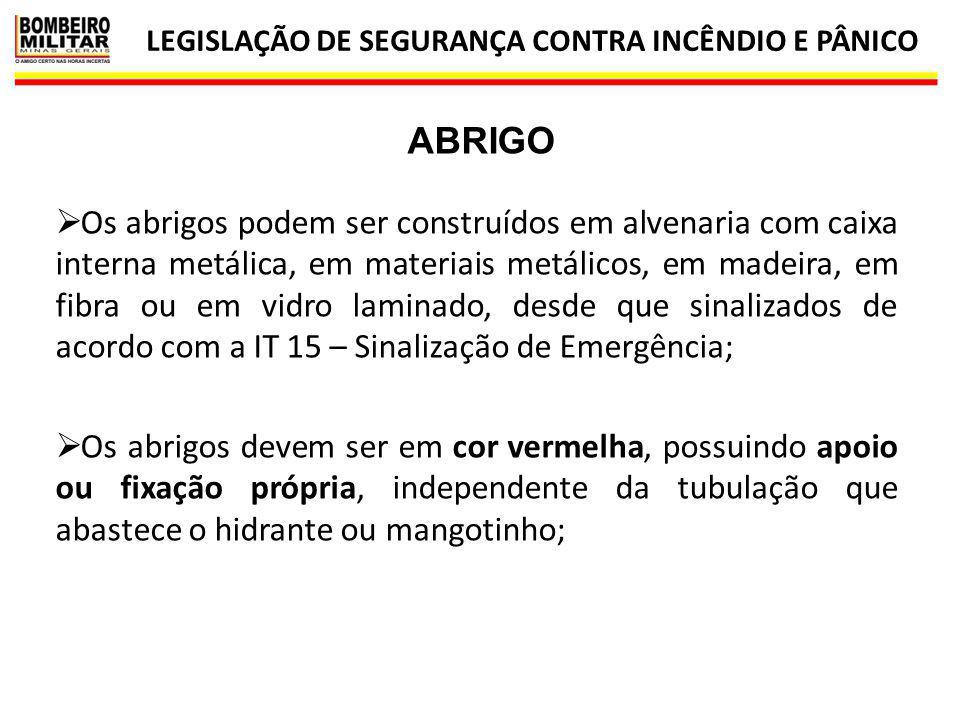LEGISLAÇÃO DE SEGURANÇA CONTRA INCÊNDIO E PÂNICO