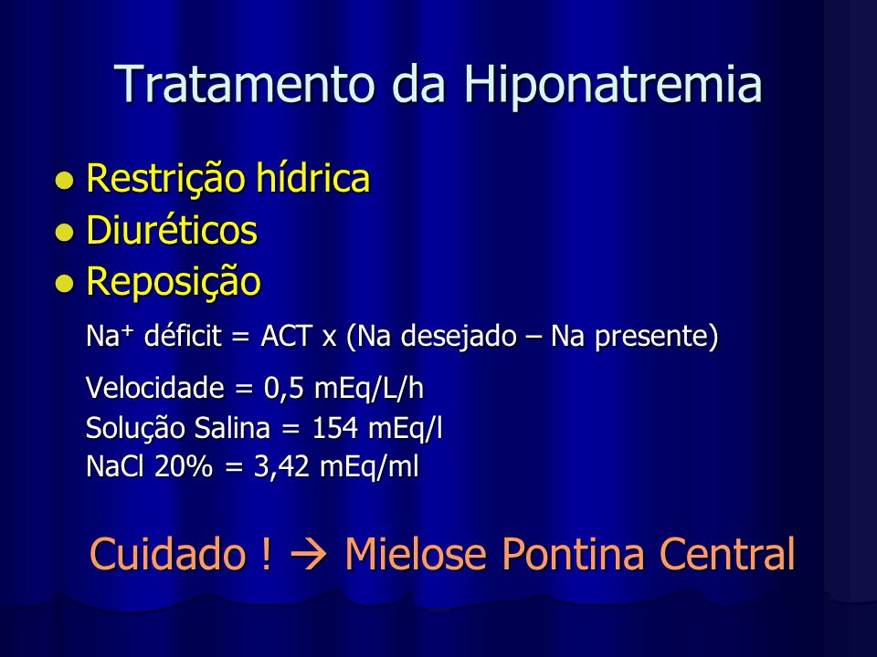 Tratamento da Hiponatremia