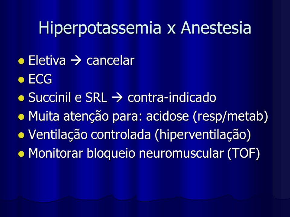 Hiperpotassemia x Anestesia