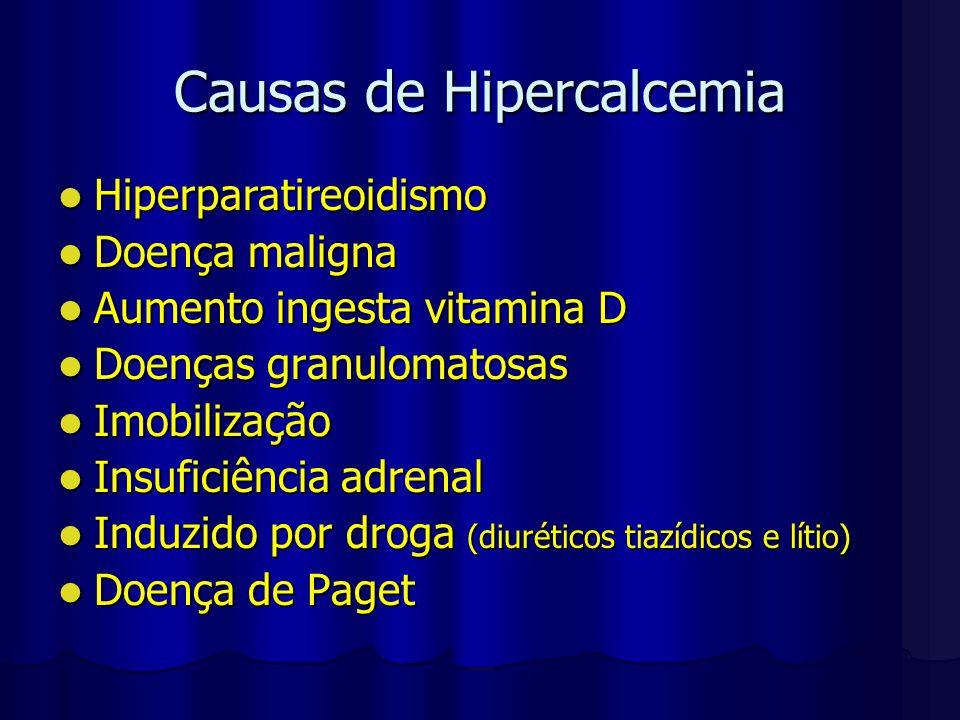 Causas de Hipercalcemia