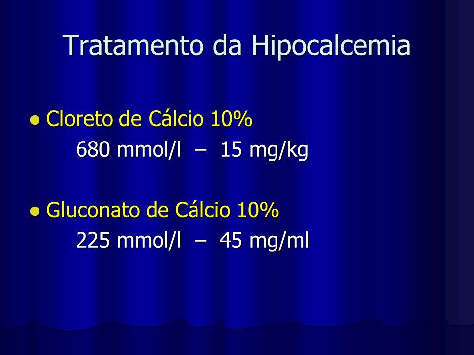 Tratamento da Hipocalcemia