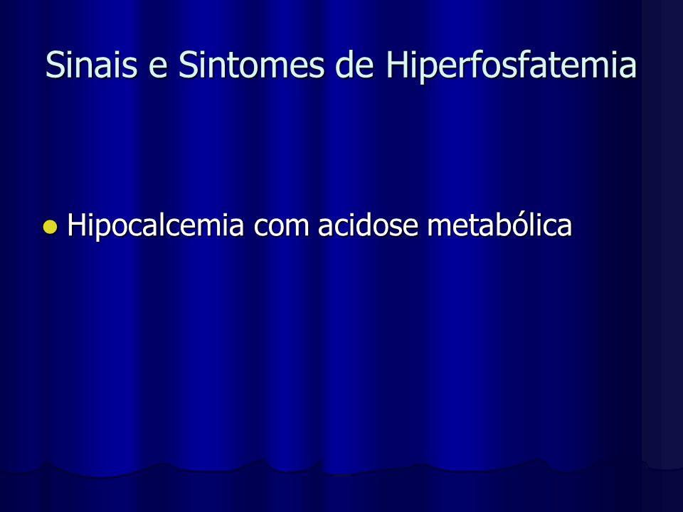 Sinais e Sintomes de Hiperfosfatemia