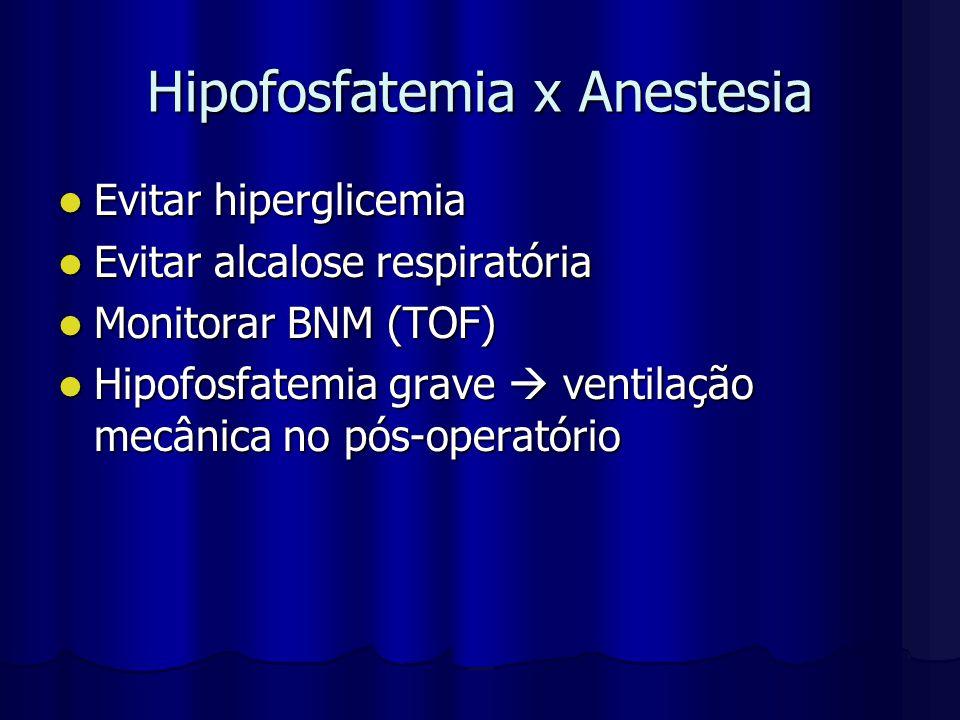Hipofosfatemia x Anestesia