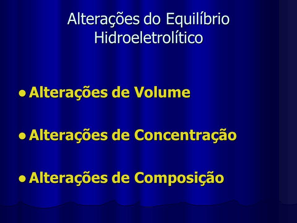 Alterações do Equilíbrio Hidroeletrolítico