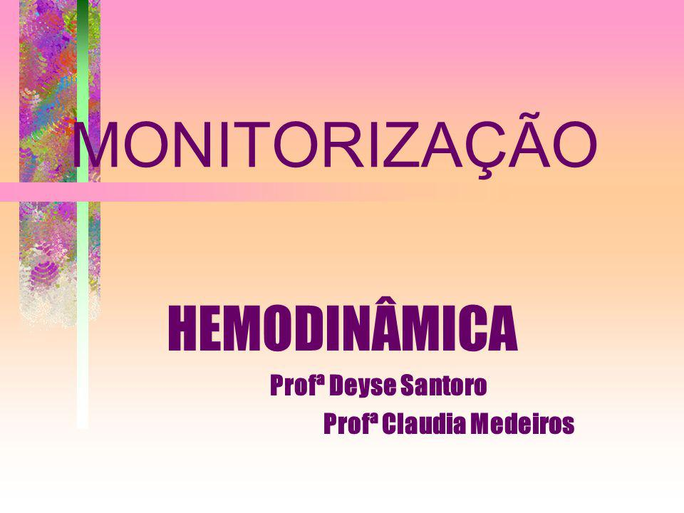 HEMODINÂMICA Profª Deyse Santoro Profª Claudia Medeiros